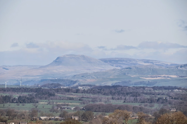 A zoom shot of the Yorkshire peak, Pen-y-Ghent in the distance.