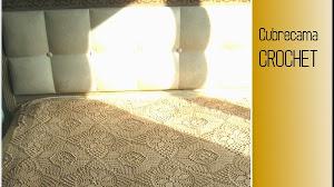 Patrones crochet de cubrecama romántica