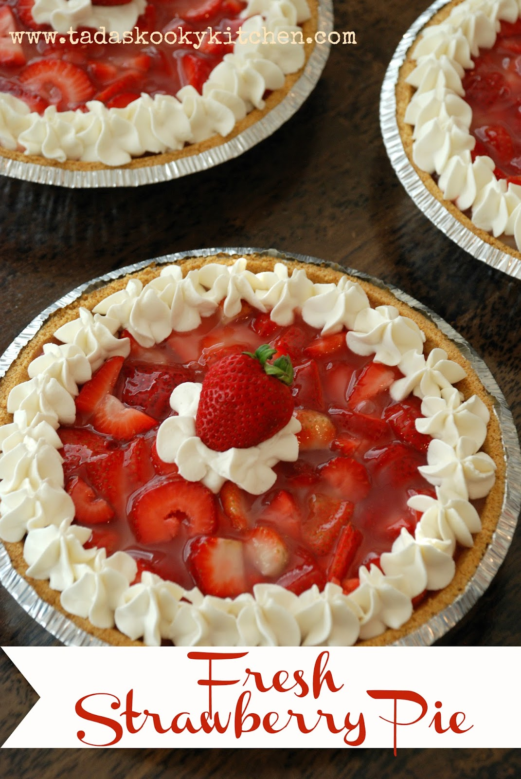 fresh strawberry pie 3 graham cracker crusts 1st layer 8