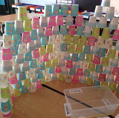 cup stacking in the classroom