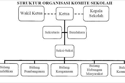 Contoh Struktur Organisasi Komite Sekolah (Berbentuk Bagan)