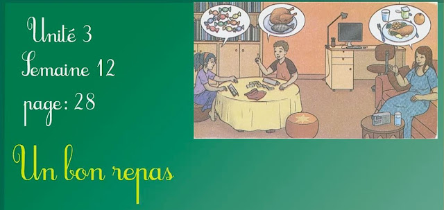 un bon repas u3 s12 mes apprentissages en français 2aep