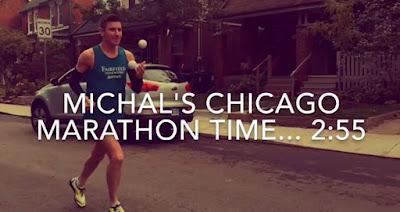 Michal Kapral Joggling Juggling Marathon BBC Sports