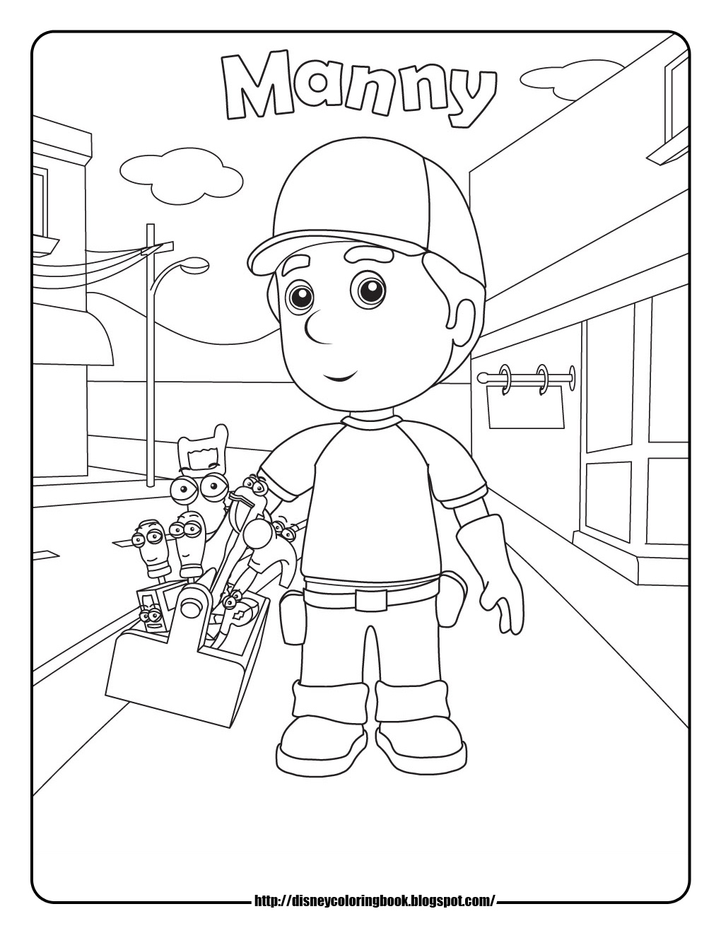 Handy Manny 1 Free Disney Coloring Sheets