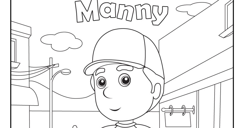 Handy Manny 1: Free Disney Coloring Sheets
