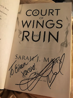 A Court of Wings and Ruins signed and personalized!