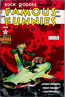 Famous Funnies v1 #214 Buck Rogers comic book cover art by Frank Frazetta