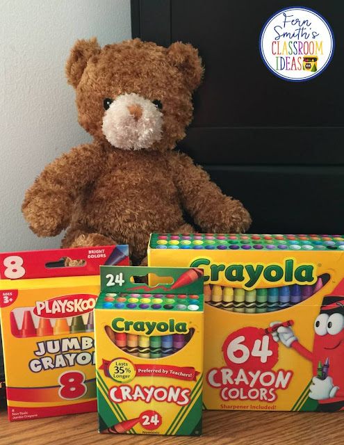 A Classroom Management Tip for Using Crayons to Help with the First Day of School from Fern at Fern Smith's Classroom Ideas.