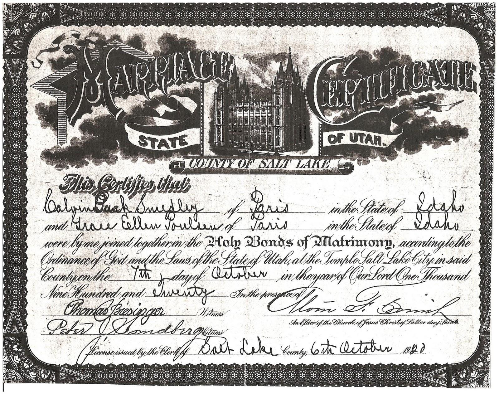 Ancestors live here wedding wednesday smedley marriage certificate wedding wednesday smedley marriage certificate 1betcityfo Image collections