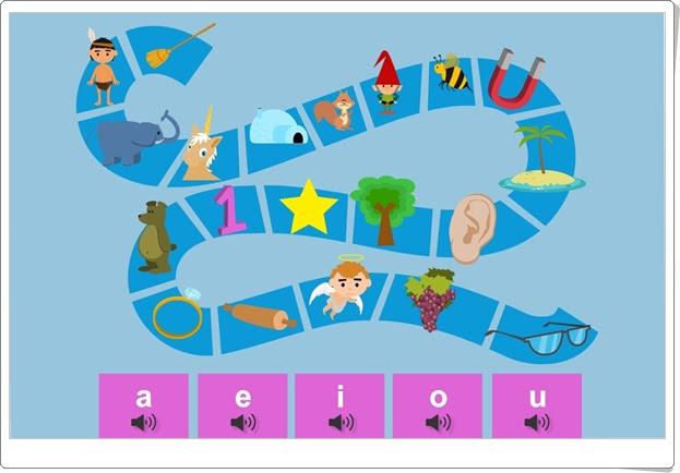 El sendero de las vocales Juego de vocales para Educación Infantil