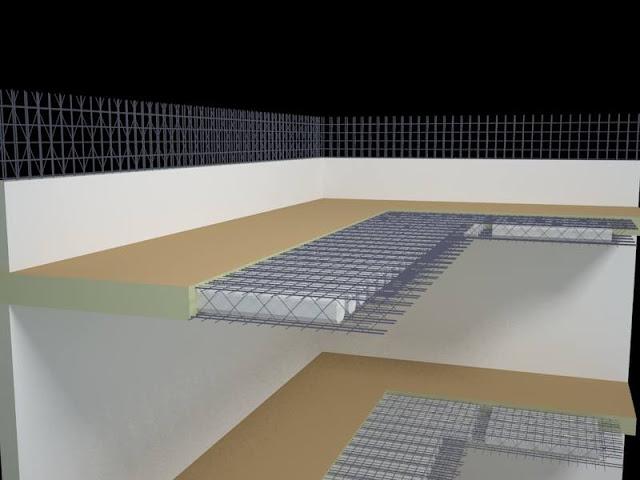 Liên kết sàn phẳng và tường phẳng chịu lực