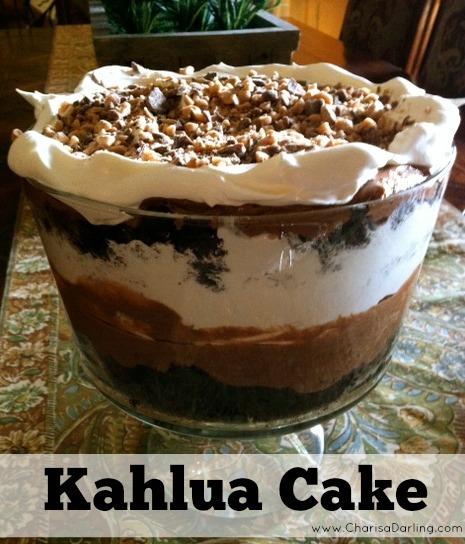 Chocolate Kahlua Cake Using Cake Mix