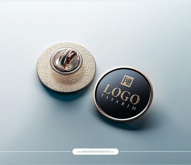 3D logo tasarımı gold kol düğmesi