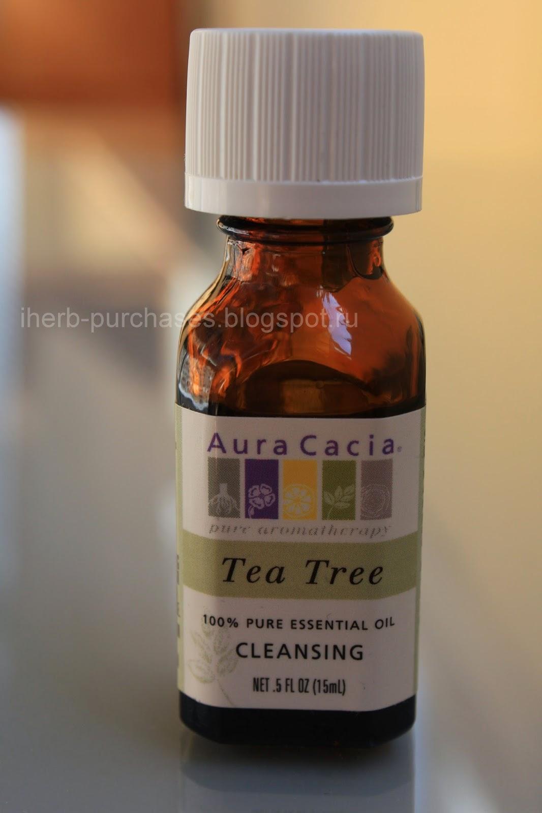 эфирное масло, чайное дерево, акне, прыщи, лечение, отзыв, iherb
