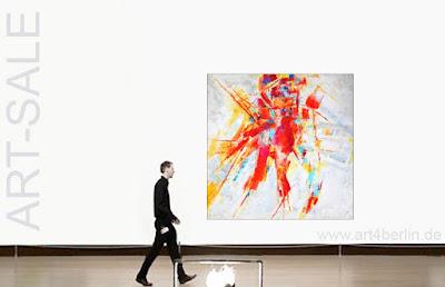 Echte großformatige Gemälde an der Wand sind eine Freude!