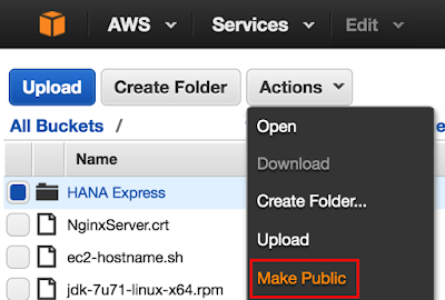 Installing HANA Express on AWS – Detailed Walkthrough