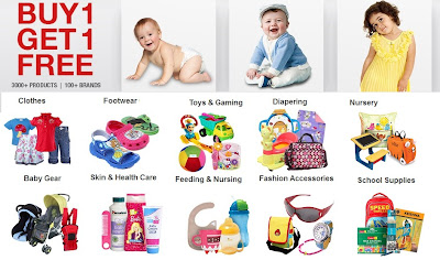 FirstCry BOGO Offer on Kids Clothes | Footwear | Toys & Gaming | Diapering | Baby Gear | Skin & Health Care | Feeding & Nursing | Fashion Accessories