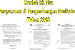 Contoh SK Tim Penyusunan Dan Pengembangan Kurikulum Tahun 2018