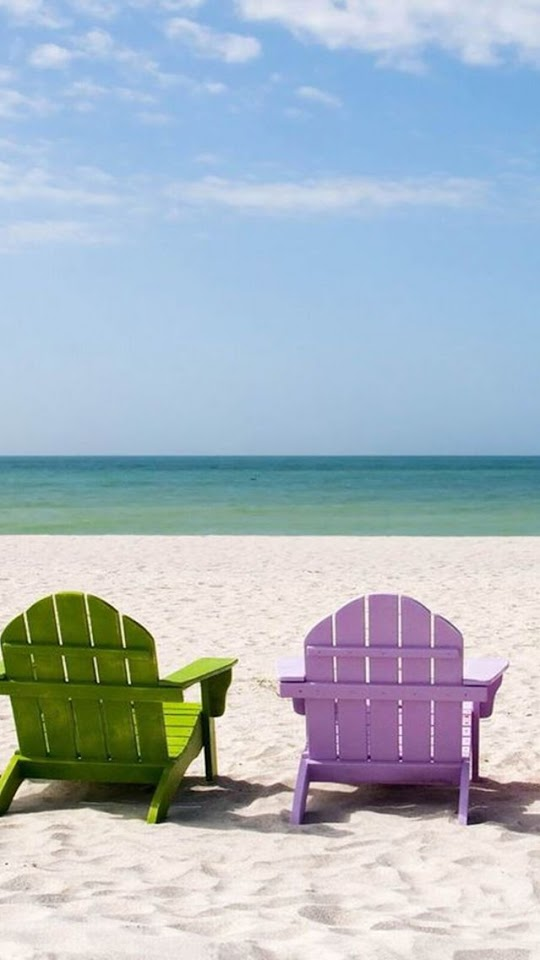 Colored Beach Chairs   Galaxy Note HD Wallpaper