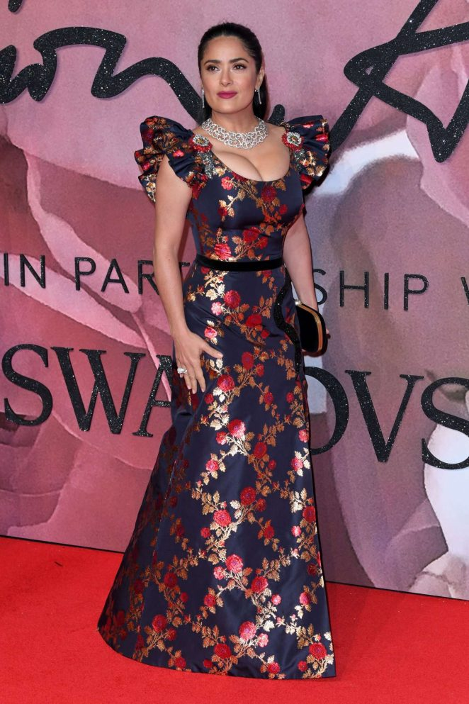 Hollywood Actress Salma Hayek Hot At Fashion Awards