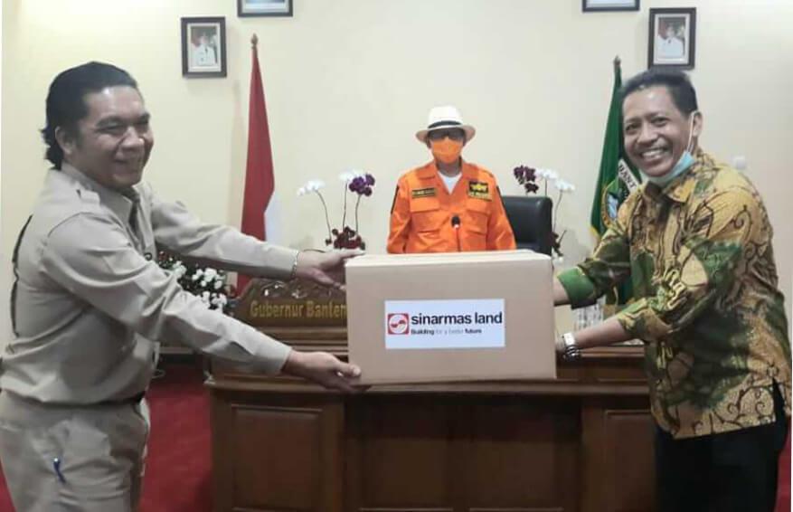 Sinar Mas Land Berikan Bantuan Alat Pelindung bagi Para Petugas Medis di Provinsi Banten Guna Mencegah Penularan Covid-19