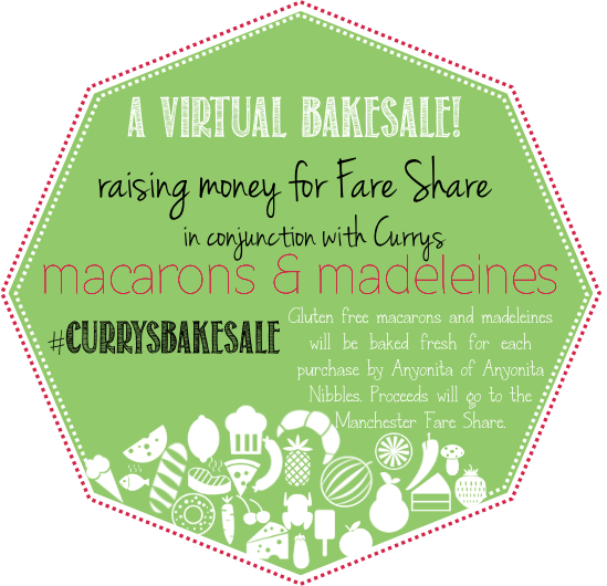 Anyonita Nibbles is raising money for Fare Share as part of the #CurrysBakeSale