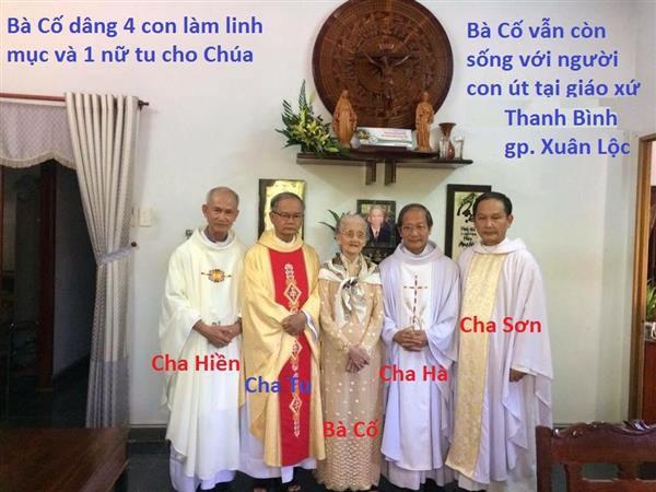 Bà Cố gần 100 tuổi có 4 người con làm linh mục