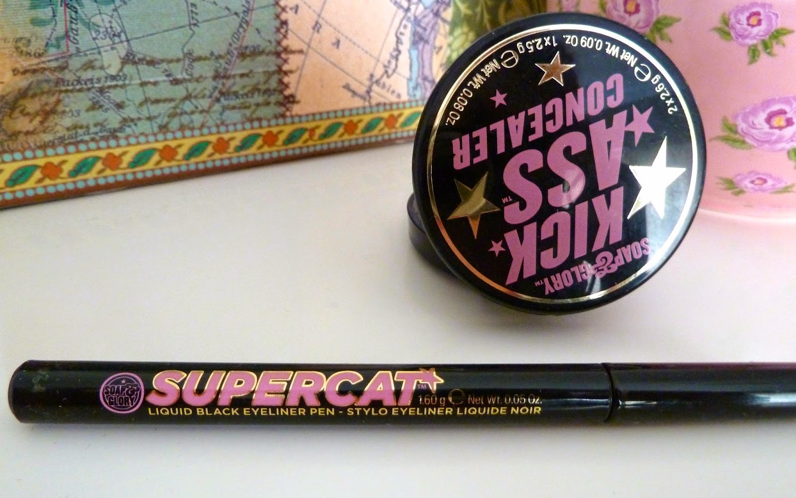 Soap & Glory Kickass Concealer and Supercat Eyeliner