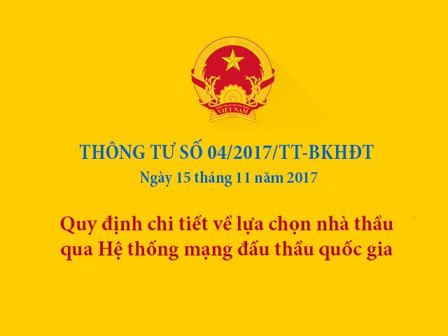 Mẫu hồ sơ mời thầu qua mạng theo thông tư 04/2017/TT-BKHĐT file word