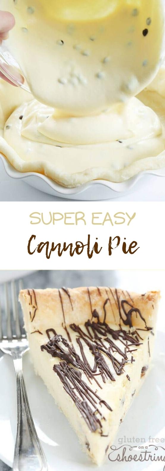 Super Easy Gluten Free Cannoli Pie #pie #dessert