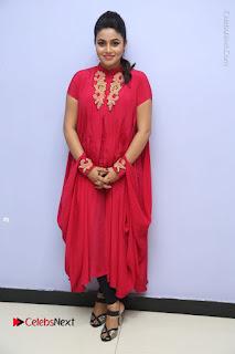 Actress Poorna Latest Stills in Red Dress at Rakshasi First Look Launch  0328.JPG
