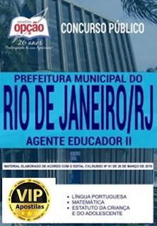 Apostila Agente Educador II - Prefeitura do Rio de Janeiro 2019