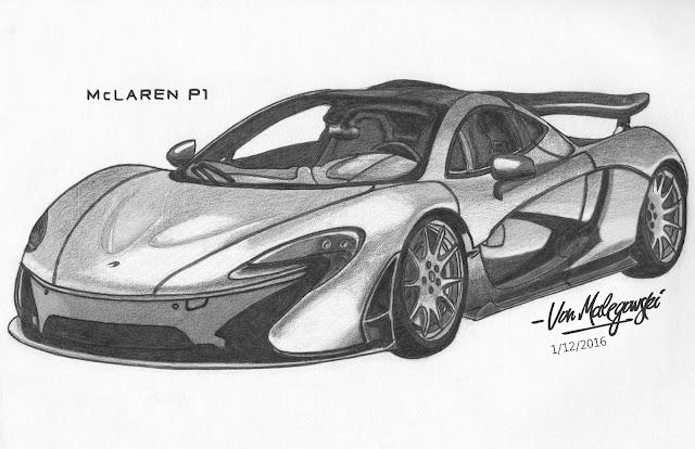 McLaren P1 Drawing ~ VonMalegowski