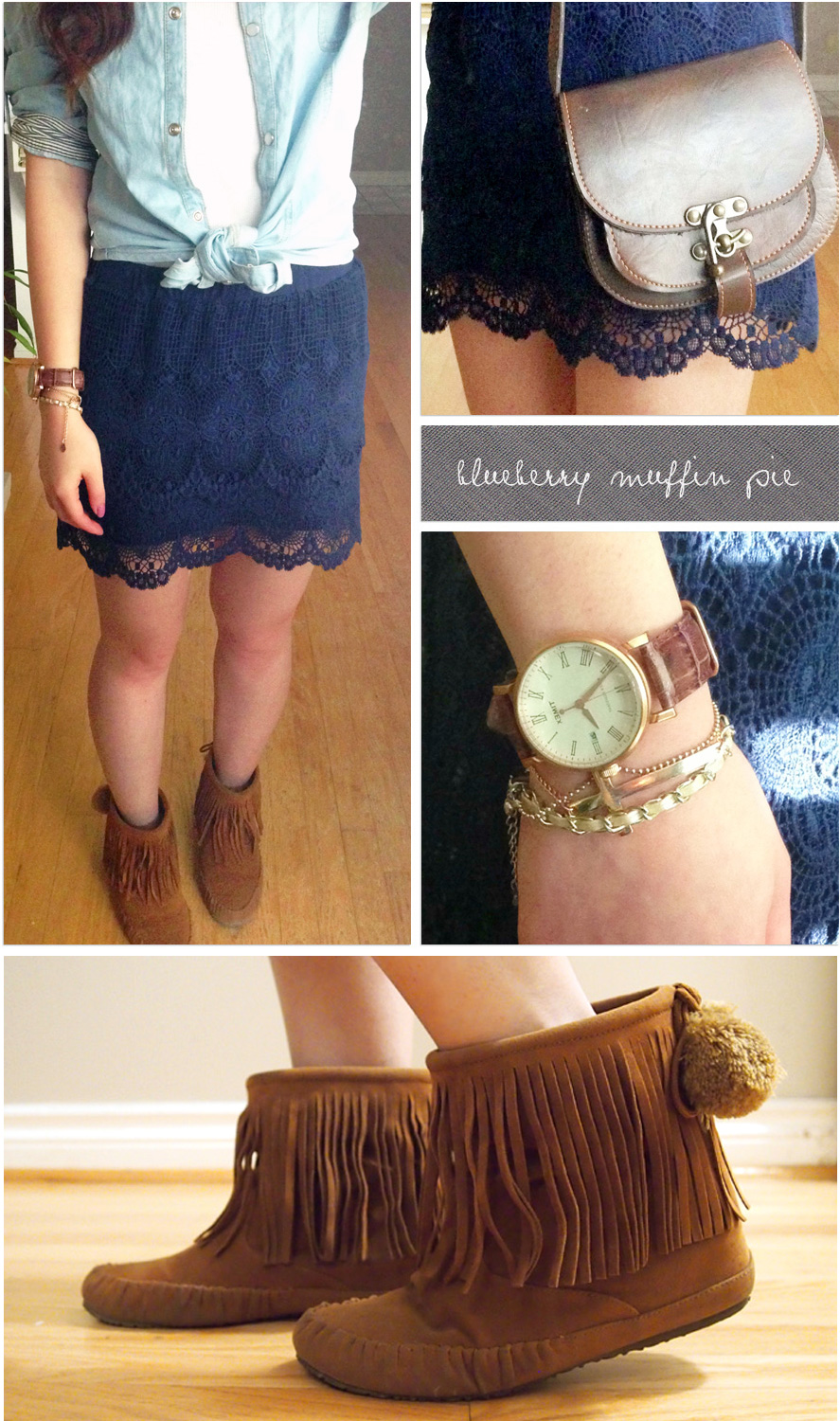 {Outfit of the Day} Blueberry Muffin Pie