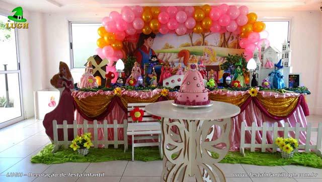 Decoração A Bela Adormecida - Aurora - Festa de aniversário infantil - Jacarepaguá - RJ