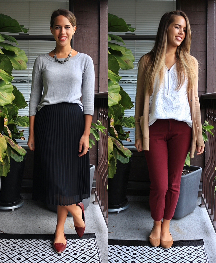 Jules in Flats - What to Wear to Work in October (Fall Workwear on a Budget)