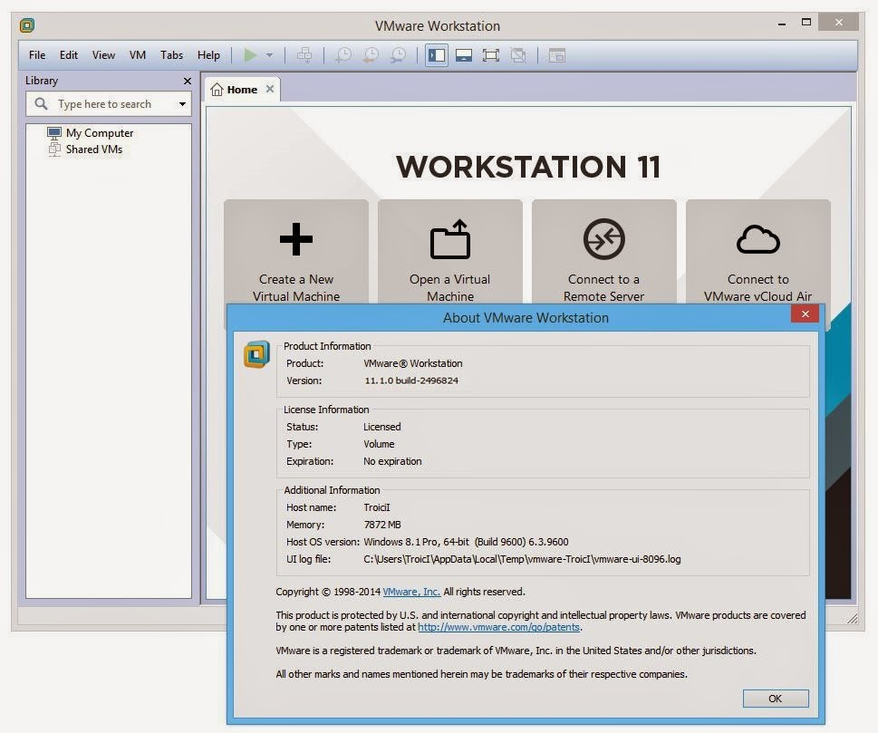 vmware workstation 11 serial key free download full version crack