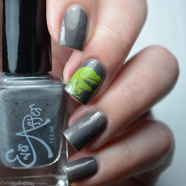 t-rex nail art