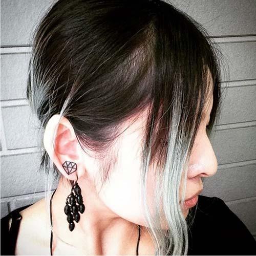 kulak memesi elmas dövmesi earlobe diamond tattoo