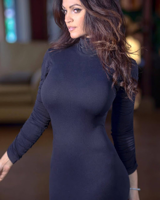 Denise-Milani-in-winter-dress