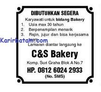 Lowongan Kerja C&S Bakery Indonesia