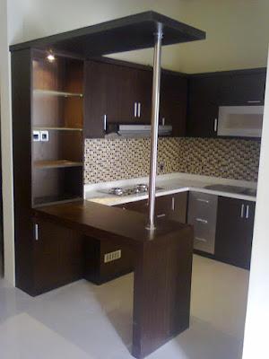 Inteiror kitchen set minimalis untuk dapur mungil