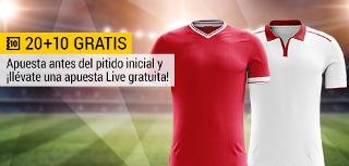bwin promocion 10 euros Liverpool vs Sevilla 13 septiembre
