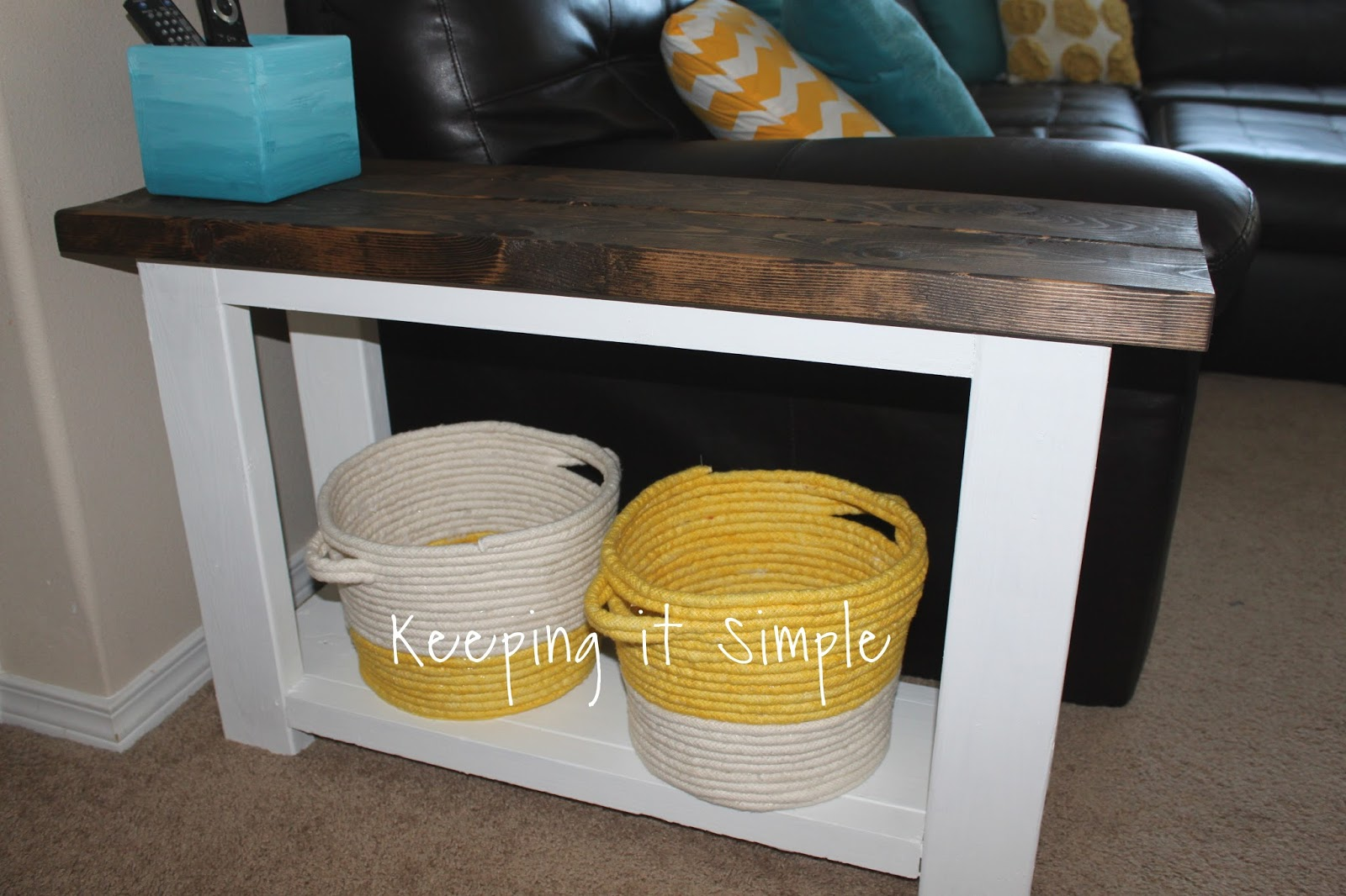 Keeping It Simple How To Build A Sofa Side Table For