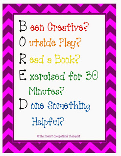 BORED Activity Cards for Summer
