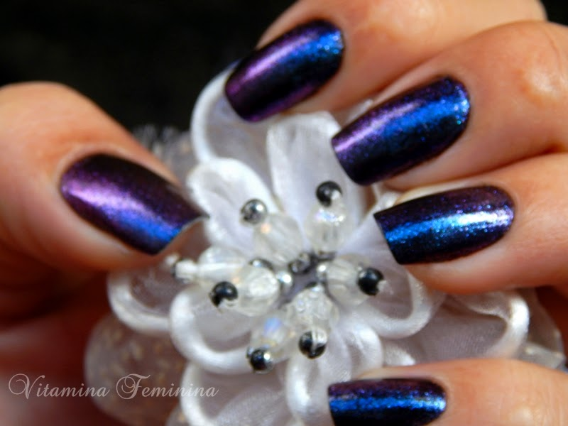 Esmaltes Lorena Preto e Beauty Color Led Lilac Strass