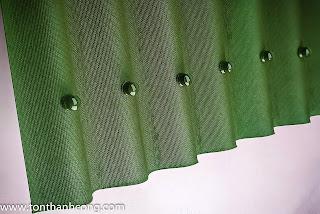 Tấm úp nóc Onduline - màu xanh rêu