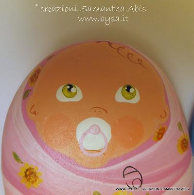 Bomboniere originali bambina dipinte su sasso