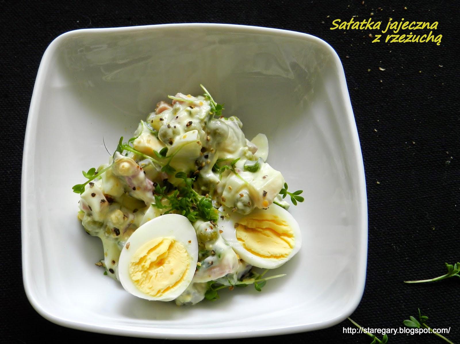 Sałatka jajeczna z rzeżuchą