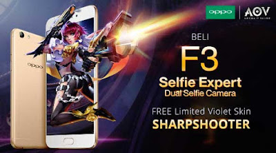 Event Spesial Garena AOV Main Game Hadiah Smartphone OPPO F3